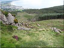 J3629 : Path through grassy gully off Slievenamaddy by Eric Jones