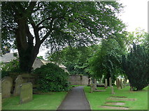 SK2381 : St Michael, Hathersage: churchyard (x) by Basher Eyre