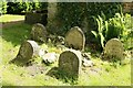SU3227 : Headstones by the Summerhouse by Bill Nicholls