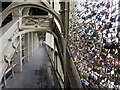 NZ2563 : 'Love Locks', High Level Bridge by Andrew Curtis