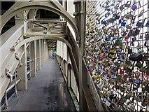 NZ2563 : 'Love Locks', High Level Bridge by Andrew Curtis
