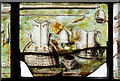 SJ4154 : St Chad's church, Farndon - the Civil War window (4) by Mike Searle