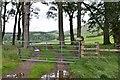 NT2547 : Farm gate above Boreland by Jim Barton