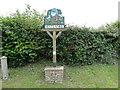 TG1434 : Matlaske village sign by Adrian S Pye