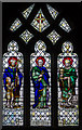 SK8448 : Stained glass window,  St Peter's church, Claypole by Julian P Guffogg