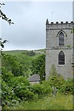 SD9772 : Tower of St Mary's Church, Kettlewell by David Smith