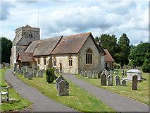 SU8441 : Frensham church by Robin Webster