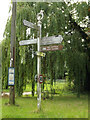 TM1364 : Roadsign on Station Road by Geographer