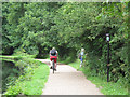 SE2536 : Towpath cyclist by Stephen Craven