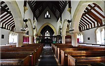 SU3940 : Wherwell: The Church  of St. Peter and the Holy Cross: The nave by Michael Garlick