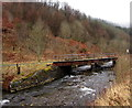 SS8796 : Former railway bridge over the Afon  Afan, Cymmer by Jaggery