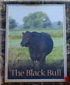 NY9864 : Sign for the Black Bull, Corbridge by JThomas