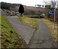 SS8596 : Path and cycle route junction, Cymmer by Jaggery