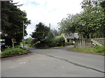 NZ0254 : Road junction at Barleyhill by Robert Graham