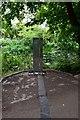 TQ1776 : Meridian marker, City Ring, Kew by John Myers