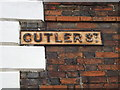 TM1644 : Cutler Street sign by Adrian Cable