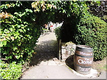 SX7881 : Lustleigh: entrance to The Cleave by Martin Bodman