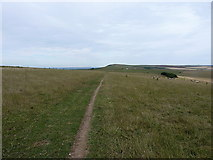 TQ4505 : South Downs Way to the east of Beddingham Hill by Richard Law