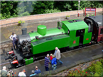 SK0247 : Steam locomotive at Froghall  , Staffordshire by Roger  Kidd