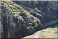SM6923 : Cliffs in Ogof Colomennod by Bill Boaden
