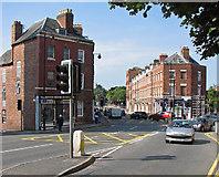 SO8454 : Worcester: traffic lights and Bridge Street by John Sutton