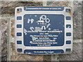 NL6698 : Blue plaque on the bank by M J Richardson