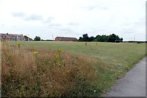 SK6790 : Mattersey Thorpe football pitch by Graham Hogg