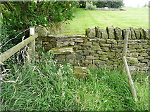 SE0322 : Stile and waymark on a diverted footpath at Long Royd, Sowerby by Humphrey Bolton
