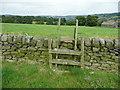 SE0322 : Ladder stile on Sowerby Bridge FP142, Link C by Humphrey Bolton