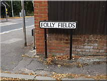 TL1614 : Folly Fields sign by Adrian Cable