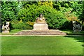 TF6928 : Sandringham Gardens, Buddha Statue and Attending Lions by David Dixon