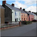 SN0120 : Colourful houses in Clarbeston Road, Pembrokeshire  by Jaggery