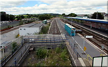 SN1916 : South side of Whitland railway station by Jaggery