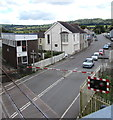 SN1916 : Queueing at Whitland railway station level crossing by Jaggery