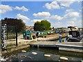SJ9098 : Moorings at Droylsden Marina by Gerald England