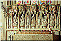 TL8392 : Reredos, West Tofts church by Charles Greenhough