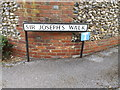 TL1313 : Sir Joseph's Walk sign by Adrian Cable