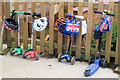 SP9111 : The Nursery School scooter park at Goldfield School, Tring by Chris Reynolds