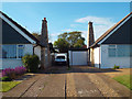 TQ4800 : Drives to adjacent bungalows, Upper Belgrave Road, Seaford by Robin Stott