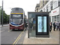 NT2473 : Digital bus shelter, Princes Street by M J Richardson