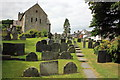SJ0743 : The churchyard of Saint Mael and Saint Sulien's Church, Corwen by Jeff Buck