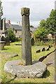 SJ0743 : The Cross-Shaft at Saint Mael and Saint Sulien's Church, Corwen by Jeff Buck