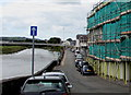 SN4119 : One-way street sign, The Quay, Carmarthen by Jaggery