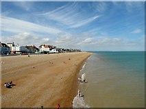 TR3752 : Deal  beach  north  from  Promenade  Pier by Martin Dawes