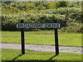 TM3978 : Broadway Drive sign by Adrian Cable