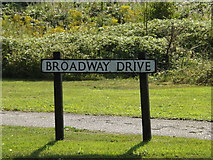 TM3978 : Broadway Drive sign by Geographer
