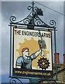 TL1738 : Sign for the Engineers public house, Henlow by JThomas