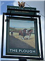 TL1841 : Sign for the Plough, Langford by JThomas