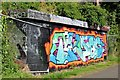J3470 : Graffiti, Lagan towpath, Stranmillis, Belfast (August 2015) by Albert Bridge