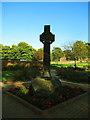 SE2435 : Bramley Park; Celtic cross by Stephen Craven